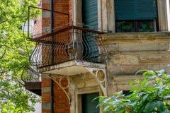 Stary stalowy balkon Zdjęcie Royalty Free