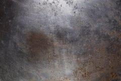 Stary Starzejący się Wietrzejący Ośniedziały metal powierzchni tekstury tło zdjęcie royalty free