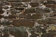 Stary starzejący się ściana z cegieł Zdjęcia Royalty Free