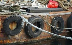 Stary statek port fotografia royalty free