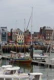Stary statek przy Dieppe, Francja Fotografia Royalty Free