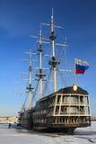 stary statek St Petersburg Zima Zdjęcia Royalty Free