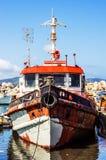 Stary statek w porcie Fotografia Royalty Free