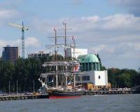 Stary statek w porcie Rotterdam Obrazy Stock