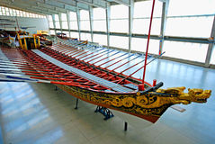 Stary statku galeon w Morskim muzeum, Lisbon, Portugalia Obrazy Stock