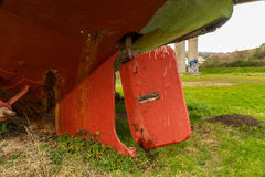 Stary statku Rudder Zdjęcia Stock
