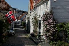 stary Stavanger obraz royalty free