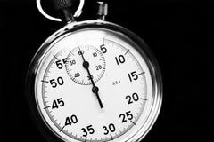Stary stopwatch odizolowywający na drewnianym tle Obrazy Royalty Free