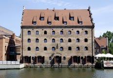Stary storehouse Gdański w Polska Zdjęcia Stock