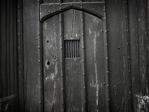 Stary Straszny Gocki drzwi tło - Akcyjny wizerunek obraz stock