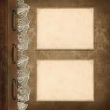 Rocznika tło, strony rodziny album royalty ilustracja