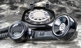 Stary stylowy obrotowy telefon Obrazy Royalty Free