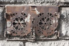 Stary suterenowy drzwi Obrazy Royalty Free