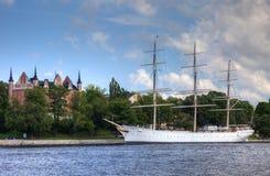 Stary Sweden wojenny statek w Sztokholm fotografia stock