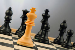 stary szachowi Zdjęcia Stock