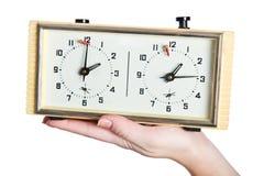 Stary szachowy zegar Zdjęcia Stock