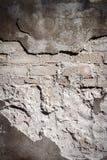 Stary szary cegły i tynku tekstury ścienny tło Zdjęcia Royalty Free