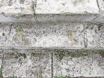 Stary Szary schody Schody Stare Szare cegły, rocznik Stairc Fotografia Stock