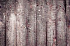 Stary szorstki drewno zaszaluje teksturę Fotografia Stock