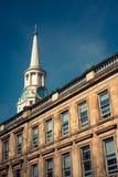 Stary Szpitalny Zegarowy wierza i piaskowa taras w Glasgow, Scotl Zdjęcie Stock