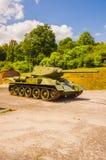 Stary T-34/85 był Radzieckim średnim zbiornikiem od drugiej wojny światowa Obrazy Royalty Free