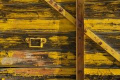 Stary taborowy furgonu drzwi obrazy stock