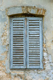 Stary tajemnicy okno obrazy stock