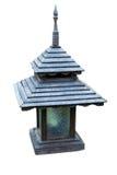 Stary tajlandzki lampion na białym tle Zdjęcie Royalty Free