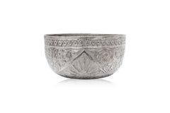 Stary tajlandzki stylu srebra puchar Fotografia Royalty Free