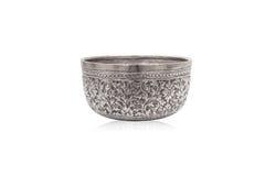 Stary tajlandzki stylu srebra puchar Obrazy Stock