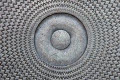 stary talerz metali brudny tło Obraz Stock
