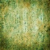 Stary talerz z tekstur muśnięć tła zielenią Fotografia Royalty Free