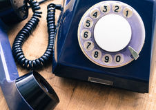 stary talerzowy telefon sposoby komunikacja past Zdjęcie Royalty Free