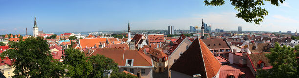 stary Tallinn obrazy stock