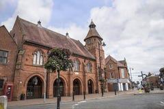 Stary Targowy Hall w targowym miasteczku Sandbach Anglia Obrazy Royalty Free