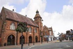 Stary Targowy Hall w targowym miasteczku Sandbach Anglia Fotografia Royalty Free