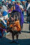 Stary targowy kobiety sprzedawania kurczak Zdjęcie Stock
