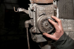 Stary telefon w kopalni Zdjęcie Stock