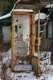 Stary telefon w wiosce Zdjęcia Stock