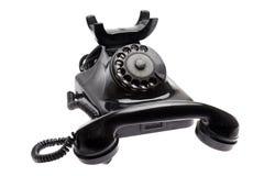 Stary telefon z brać daleko odbiorcą Zdjęcie Royalty Free