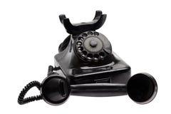Stary telefon z brać daleko odbiorcą Obraz Royalty Free