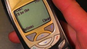 Stary telefonu Texting zbiory wideo