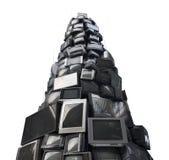 Stary telewizyjny śmieci, banialuka TV, elektroniczna dżonka może być recyc zdjęcia royalty free