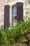 Stary tenement dom przerastaj?cy z bluszczem w Sault, Vaucluse dzia? w Provence regionie, obrazy stock