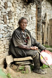 Stary tibetan mężczyzna portret Obraz Stock