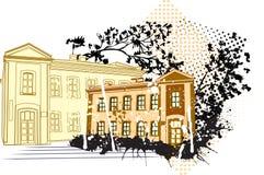 stary timehouse royalty ilustracja