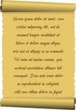 Stary tkankowy papier, ślimacznica z inskrypcją Obraz Royalty Free