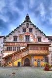 Stary townhall na wyspie Lindau przy Jeziornym Constance Zdjęcie Royalty Free