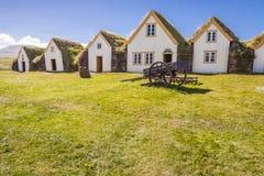 Stary tradycyjny Islandzki gospodarstwo rolne - Glaumber Obraz Royalty Free