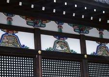 Stary tradycyjny Japoński drewniany dekoracji tło zdjęcia royalty free